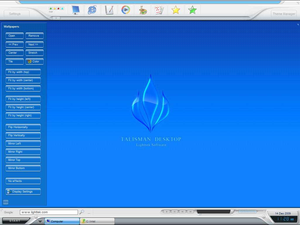 Lighttek Software  Programs for desktop management, shell